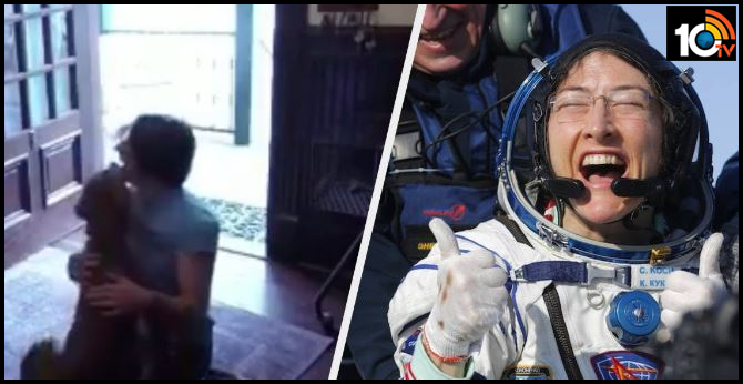 NASA astronaut Christina Koch reunited with her dog after 328 days in space, and the Emotional video