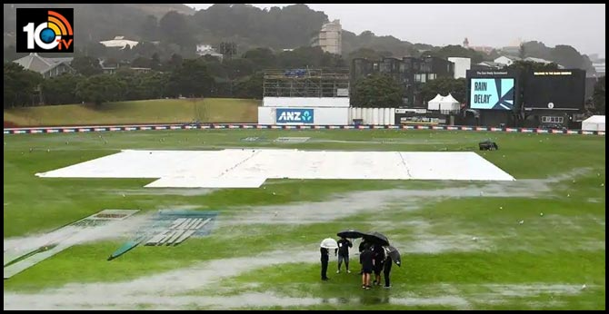 New Zealand vs India, 1st Test:  Rain stops play