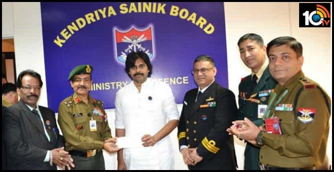 Pawan Kalyan to donate Rs 1 crore to Central Sainik Board In Delhi