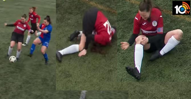 This Scottish soccer player hammered her own dislocated knee back into place mid-game and kept on playing
