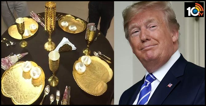 'Trump Collection', gold&silver plated tableware