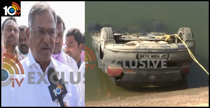 Two dead bodies in a car that Flushed in Kakatiya canal ..Peddapalli MLA sister and bava dead
