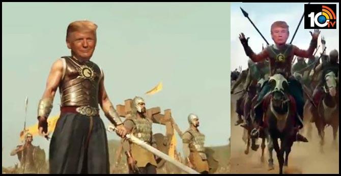 "US President  Donald Trump Shares Video Of Himself As ""Baahubali"""
