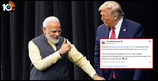US President Donald Trump To Visit India On February 24-25