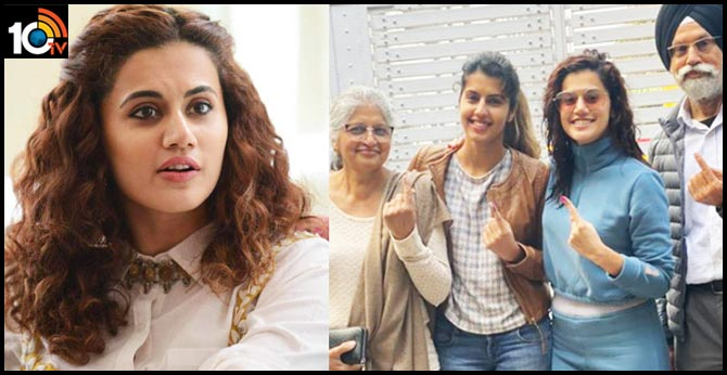 Taapsee Pannu shuts man questioning her vote in Delhi Elections: You can't take Delhi out of this girl