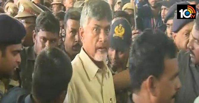 chandrababu fires over ycp government