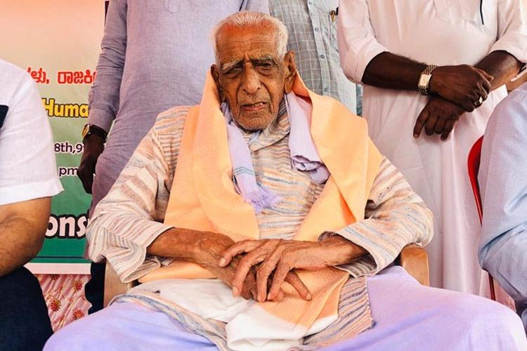 101-year-old freedom fighter on five day protest in Bengaluru against CAA