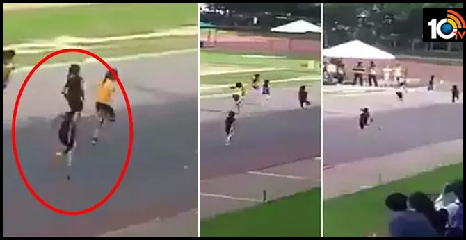 inspiring video of differently abled girl running in race