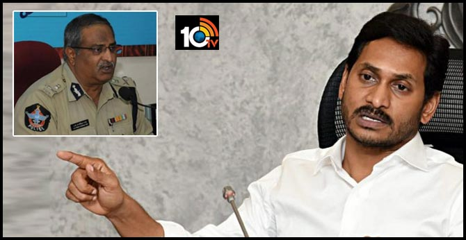 jagan govt suspend Senior IPS officer A.B. Venkateshwara Rao