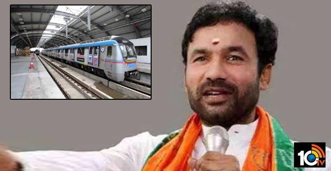 kishan reddy warns hyderabad metro rail officials