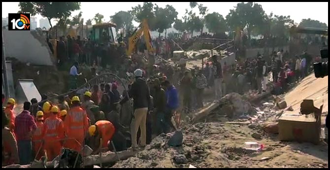 Three-storey building collapsed at mohali in Punjab