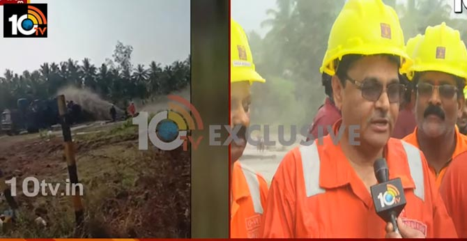 ongc sucess to stop gas leakage