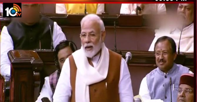 pm Modi sensational comments in Rajya Sabha on formation of Telangana