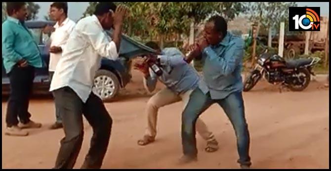another video viral in social media of shad nagar police  sanke dance