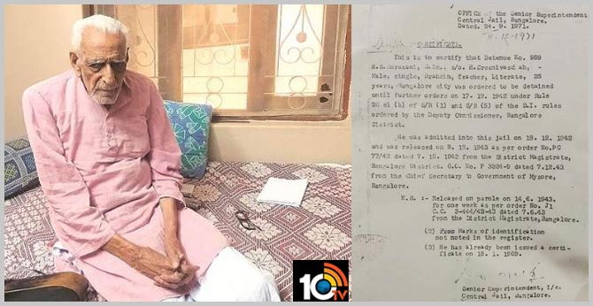 102-year-old readies CV as BJP puts him to freedom fighter test