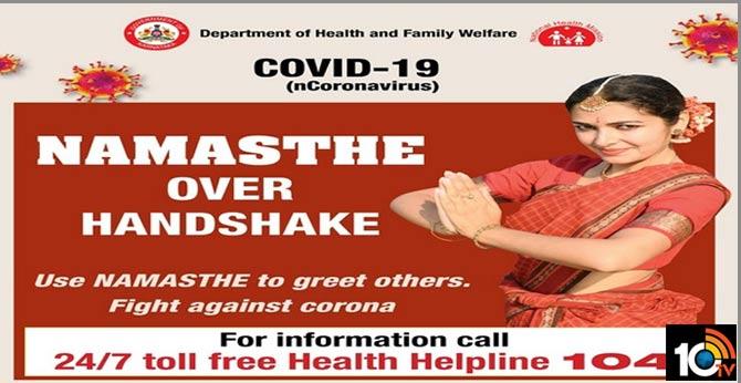 60 cases in India, Karnataka launches 'Namaste over Handshake' campaign
