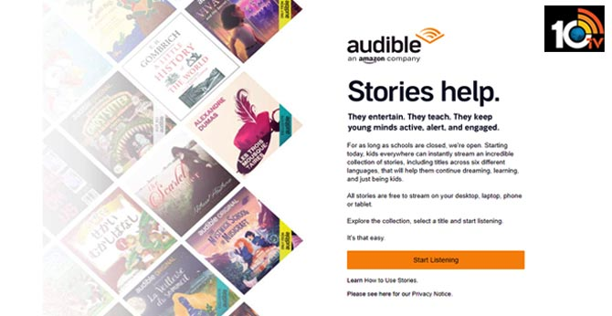 Audible has made 100s of children's audio books free