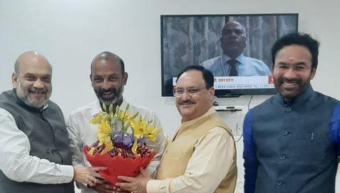 Newly appointed Telangana BJP President Bandi Sanjay Kumar met Home Minister Amit Shah and BJP National President J P Nadda