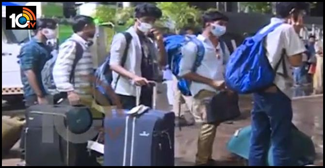 Coronavirus Effect : 186 students arrived to Vizag from abroad