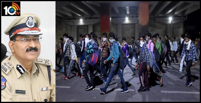 Don't evacuate students and workers from Executive Hostel, PG Mess in Hyderabad, Telangana DGP