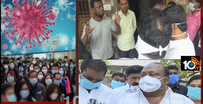 High alert in Karimnagar: Hypochlorite Spray