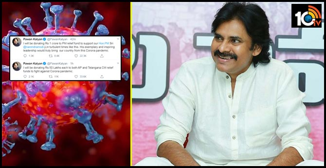 I will be donating Rs.50 Lakhs each to both AP and Telangana CM relief funds says Pawan Kalyan