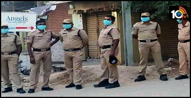 Corona High Alert in Karimnagar Collectorate Road block, Hotels, Shops Close