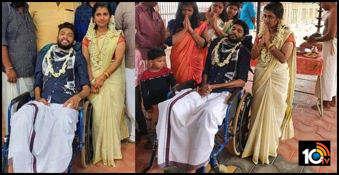 Kerala woman wins hearts by marrying paralysed man
