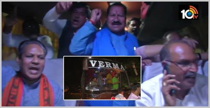 "Madhya Pradesh: MLA Vijay Shah (pic 4) says, ""We are going either to Bengaluru or Delhi"