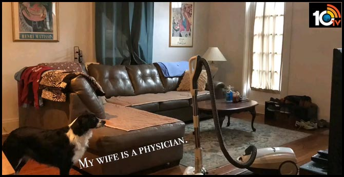 Man builds a comfort castle in their home to help physician wife relax. Watch