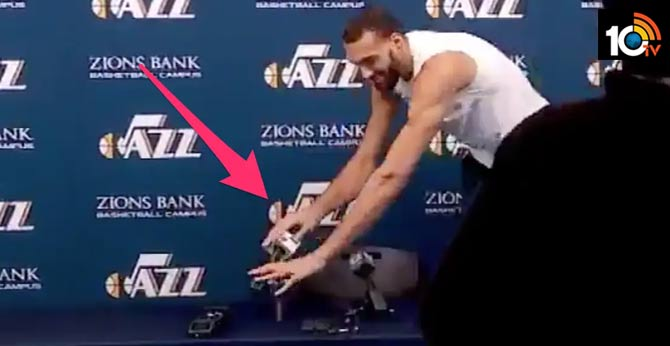 NBA player tests positive for coronavirus just days after joking about making others sick by touching a bunch of microphones during a press conference