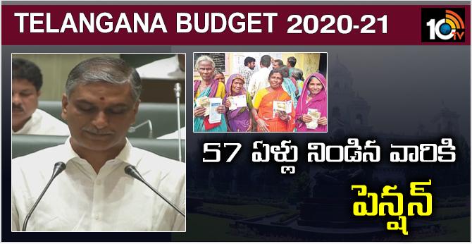 Telangana Budget: Pension for 57-year-olds - Harish Rao