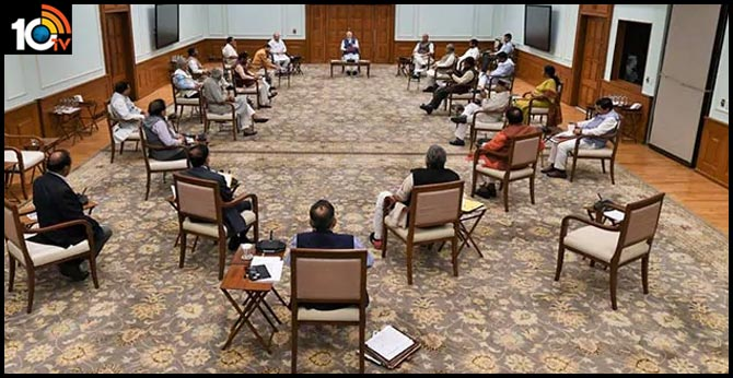 Social Distancing Demo At PM's Cabinet Meet, On Day 1 Of 3-Week Lockdown