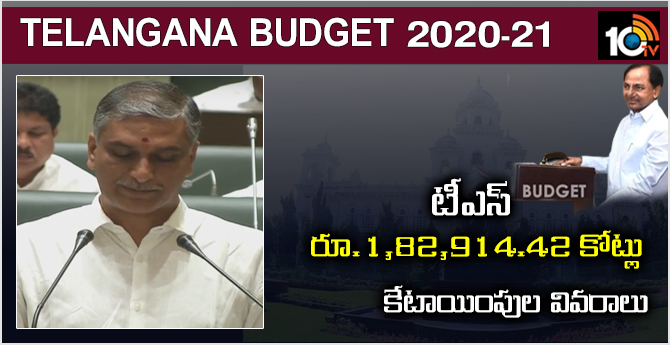 The TS budget is Rs. 1, 82, 914.42 crores: Details of allocation