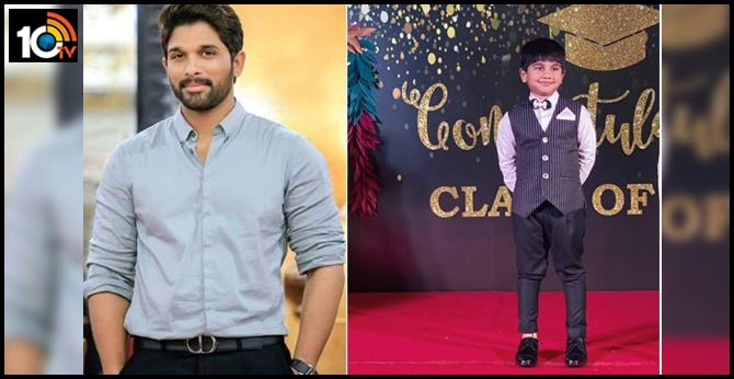 Allu Arjun Tweet about Ayaan's Pre School, Graduation Celebrations