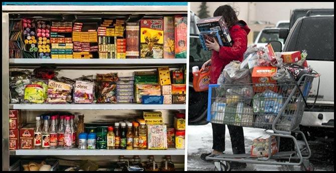 Panic mode on as Indians rush to stock up on groceries, coronavirus pandemic