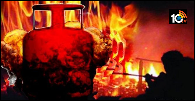 gas cylinder Exploded in the house, Mother, son dead