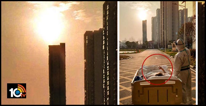 87 year old coronavirus patient watches sunset with doctor outside wuhan hospital heartwarming pic