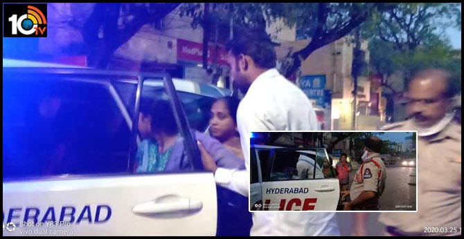 Coronavirus outbreak: secunderabad police gives his vehicle to pregnant