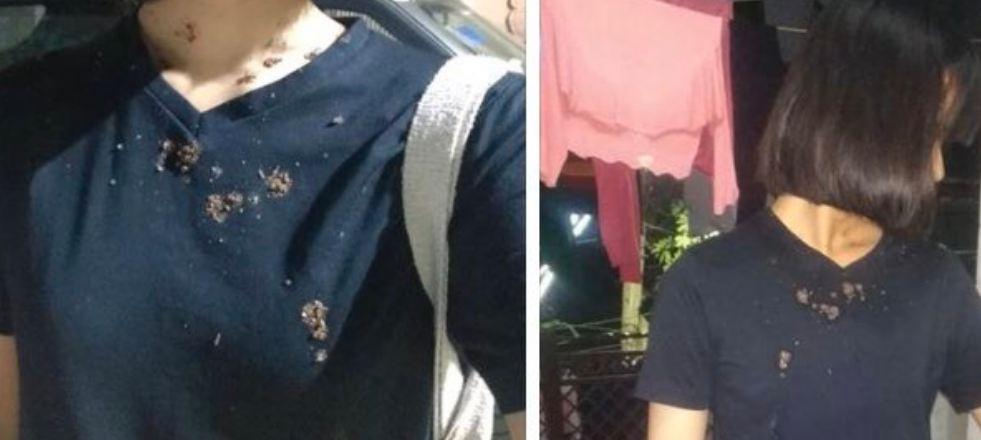 "A Manipuri girl at Vijay Nagar, Delhi was spat on by an middle aged man and shouted at ""Corona"""