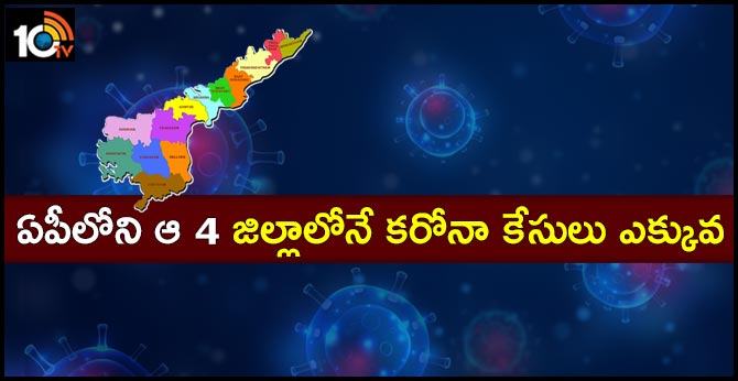 Coronavirus is high in four districts in Ap