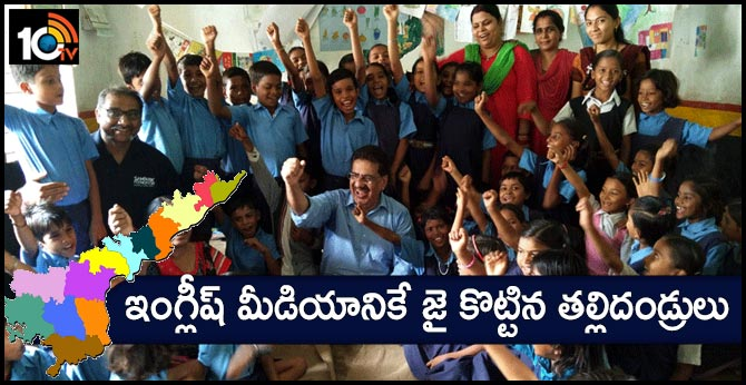 Maximum Parents are in AP Preferred for English Medium