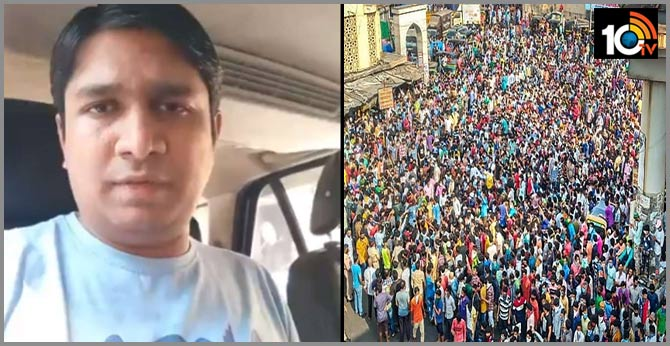 Mumbai Police has detained a man identified as Vinay Dubey