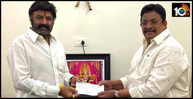 Natasimha Nandamuri Balakrishna Donates Rs 1 Crore 25 Lakhs To Fight Corona Virus