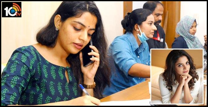 Nikhila Vimal helps out at Kannur corona call centre