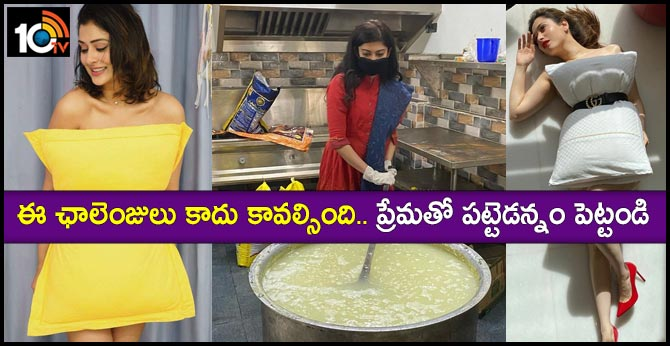 Pranitha Subhash cooks food for Corona virus relief victims