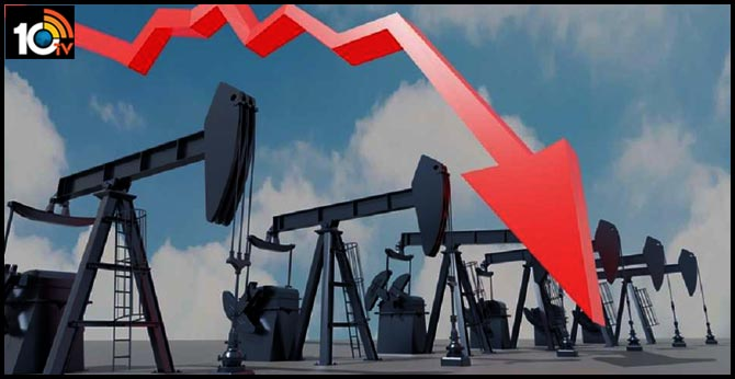 What led crude oil prices fall below $0 a barrel
