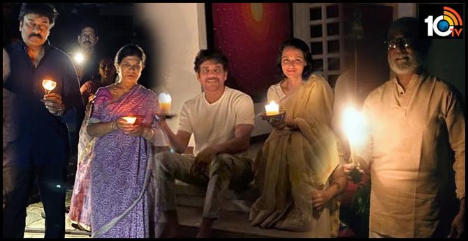 celebrities who participates in modi light lamps program