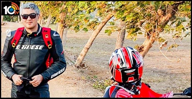 hero Ajith takes 650 Kms ride on 'Valimai bike