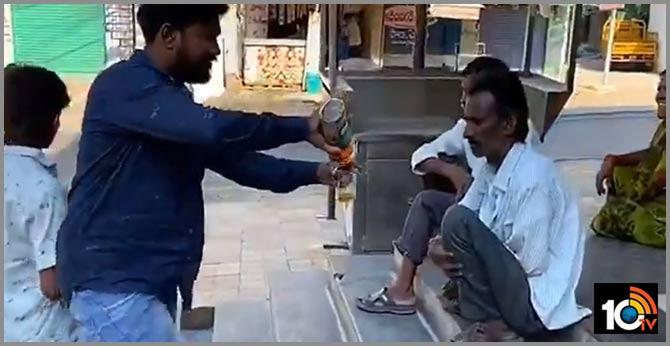 police arrest man for free liquor distribution